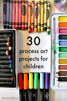 30 art projects that make it easy for you to explore creative techniques with your children – lots of ideas, so whenever you want to do some art you're all set to go