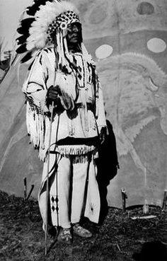 Tom Turned Up Nose near Gleichen, Alberta - Blackfoot (Siksika) - circa 1949