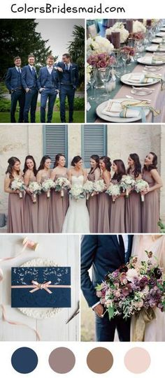 Wedding Themes Dark blue and mauve wedding color palettes for fall - Looking for color schemes for your 2018 fall wedding? We've got 8 popular fall wedding color palettes to inspire your big day. Check them out here! Sky Blue Weddings, Wedding Color Pallet, Wedding Colour Palettes, Wedding Color Schemes Fall Rustic, Best Wedding Colors, Fall Wedding Themes, Navy Wedding Colors Fall, Wedding Ideas For Fall, Fall Wedding Inspiration