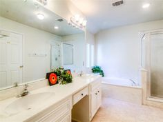 Double sinks and vanity.