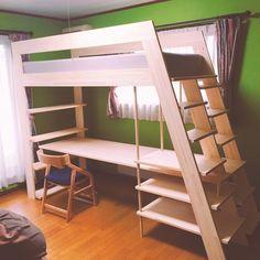 Luxury Furniture Brands Code: 6612328191 - All For Decorations Small Room Bedroom, Small Rooms, Kids Bedroom, Bedroom Decor, Space Saving Furniture, Cool Furniture, Loft Bed Desk, Loft Beds, Loft Bed Plans