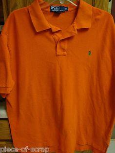 RALPH LAUREN POLO Mens Shirt S/S GOLF Short Sleeve XL EXTRA LARGE Orange * Florida Gators Halloween Shirt