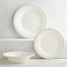 Canopy Beaded Porcelain 16-piece Dinnerware Set, White from Walmart ...