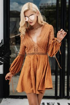 Cute lace up boho dress!