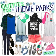 """""""Outfits For Theme Parks"""" by outofthisworld-tips on Polyvore"""