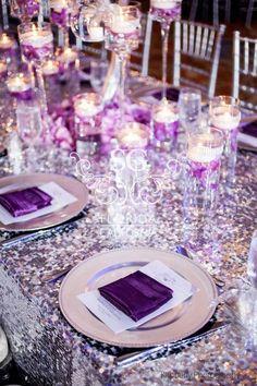 Purple And Silver Wedding Decorations Decor Ideas