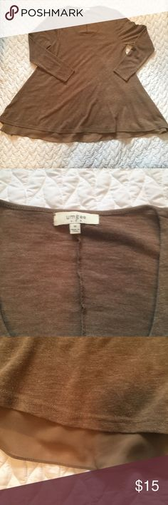 Umgee Brown Tunic Cute tunic! Has a sheer material that falls a little longer than top. Umgee Tops Tunics