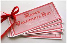 {Free Printable} Valentine's Day Vouchers