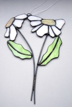 witraż / stained glass flowers