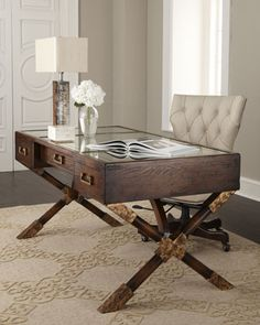 John-Richard Collection | Mirrored Top Desk