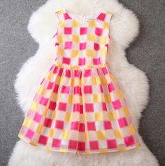 Square grid dress XXA621042