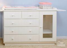 Per Bambini » Amor em cada detalhe » Cômodas 5 gavetas com armário