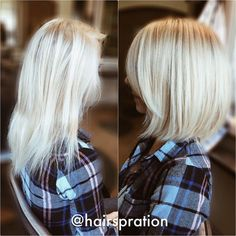 I love this transformation. I dry point cut her hair because it's so fine. This helps me shape her hair in its natural hang with very little tension. I shampooed and conditioned her hair with #Oribe Magnificent Volume and finished her off with Grandiose H