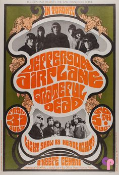 Jefferson Airplane, Grateful Dead. O'Keef Center, Toronto Canada. 1967