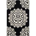 Bella Black/Ivory 6 ft. x 9 ft. Area Rug
