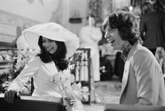 50 Photos That Prove the '70s Was the Decade With the Best Style Bianca Jagger, Mick Jagger, Keith Richards, Saint Tropez, Lancaster, Julie Christie, Marianne Faithfull, Celebrity Wedding Photos, Celebrity Weddings