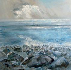 Millook, Bude, 60cm deep canvas £400 www.sueread.co.uk #seascape Cornish Seascape