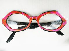 Hot Pink Vintage Eyeglasses Frames  Elton John would have been proud to add these to his collection. These are probably older than 70s but not much