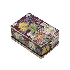 SULHWA CHILGI Mother of Pearl Inlay Hydrangea Lacquer Jewelry Box with Mirror Jewel Gift Case Organizer (Red)…