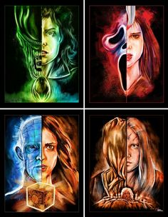 It's a Horror Movie Horror Movies Funny, Horror Movie Characters, Classic Horror Movies, Scary Movies, Horror Villains, Horror Artwork, Horror Pictures, Horror Icons, Horror Show
