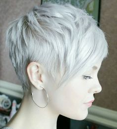 Blonde Messy Pixie Cut