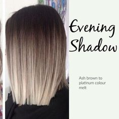 New hair color ash ombre balayage ideas Ombré Hair, Wavy Hair, Blonde Color, Ombre Colour, Brunette Color, Ash Color, Hair Looks, Cool Hairstyles, Black Hairstyles