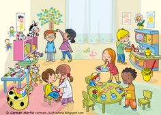 Carmen Martín Ilustradora Art Drawings For Kids, Drawing For Kids, Art For Kids, Picture Story Writing, Picture Comprehension, Sequencing Pictures, School Clipart, Preschool Learning Activities, Teaching Materials