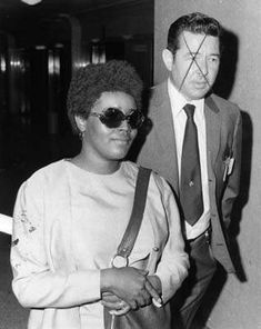 Mrs. Donald Shea on December 14, 1970 in court. Her husband was killed and cut up by members of the Manson family because he apparently knew too much about their activities  at the ranch and elsewhere.