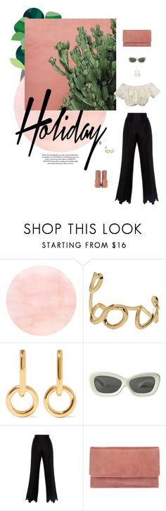 """""""holiday"""" by ffeathered ❤ liked on Polyvore featuring Chloé, Sophie Buhai, Leal Daccarett, Status Anxiety and Gianvito Rossi"""