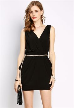 PEDIDOS SOLO POR #ENCARGO Código: PC-72 Surplice Sleeveless Mini Dress W/Belt Color: Black Talla: S-M-L Precio: ₡25.500 ($47,05)  Whatsapp ☎8963-3317, escribir al inbox o maya.boutique@hotmail.com  Envíos a todo el país. #MayaBoutiqueCR ❤