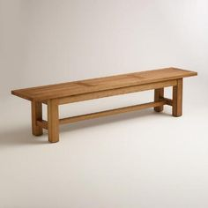 Wood Praiano Outdoor Dining Bench | World Market