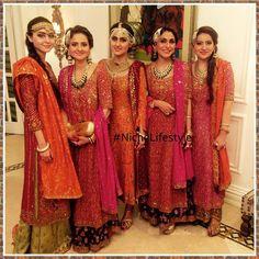 Anza , Sehr @anushammar @shaziaammar & Nazia in #BuntoKazmi at the #Noozain #wedding festivities #happeningnow #thebuntogirls