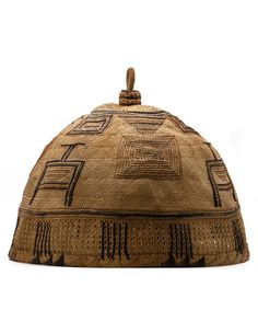 Africa | Basketry cover collected in northern Nigeria | Natural fiber and pigment | ca. 1962 or earlier