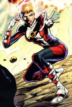Imra Ardeen is a founding member of the Legion of Super-Heroes in the 30th and 31st centuries under the code name Saturn Girl. Though all of the inhabitants of her homeworld of Titan are telepaths, Imra's telepathy ranks among the strongest of her race. Saturn Girl is the first ever female character to lead a super-team in comic book history.