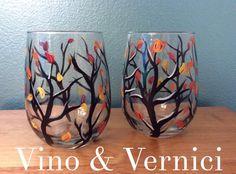 Fall wine glass tumblers  Vino & Vernici