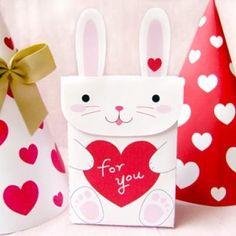 Printable Bunny Valentine Goodie Bag