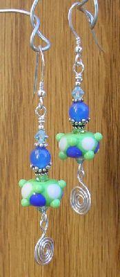 lampwork wire beaded earrings projects
