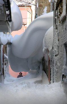 WOW!!! it was snowing in Italy...Orsango under the snow, February 10, 2012.  Photo by Sandro Jalani