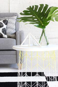 Wire basket sidetable diy