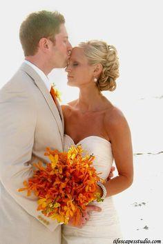 Autumn Beach wedding.