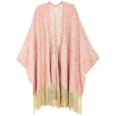 Melissa Mccarthy Seven7 Plus Plus Tapestry Fringe Poncho (53.765 CLP) ❤ liked on Polyvore featuring plus size women's fashion, plus size clothing, plus size outerwear, outerwear, sweaters, jackets, kimono, tops, plus size and orange