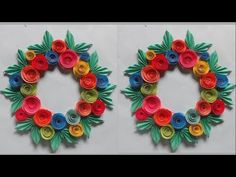 Home Decoration || Awesome Colour Paper Whelmed ||Easy Making Whelmed ||...