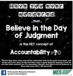 The ultimate key of accountability in Islam