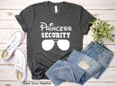 Princess Security Disney shirt, Disney shirt for Men, Disney family shirt, Couple matching shirt, Di Disney Family Shirts, Funny Disney Shirts, Disneyland Shirts, Disney Shirts For Family, Disney World Outfits, Matching Couple Shirts, Mama Shirt, Disney Ideas, Couple Outfits