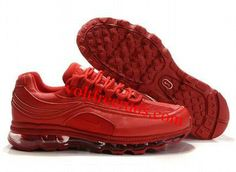 online store 2158d b43c9 I7031 Nike Air Max 24-7 Mens Shoe All Red Nike Air Max For Women