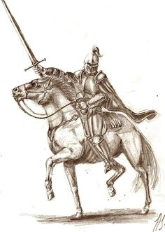 A Breton knight, graphite on paper, part of a series of warriors i drew. Horse Drawings, Pencil Art Drawings, Animal Drawings, Art Sketches, Knight Drawing, Knight On Horse, Really Cool Drawings, Knight Tattoo, Viking Logo