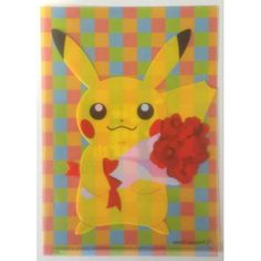Pokemon Center 2013 15th Anniversary Pikachu Mini Clear File Folder NOT SOLD IN STORES