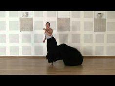 Técnica avanzada de bata de cola flamenca: Cambia de una pierna a otra - YouTube