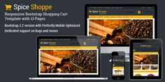 Check out Spice Shoppe Bootstrap Shopping Cart by Sainath Chillapuram on Creative Market