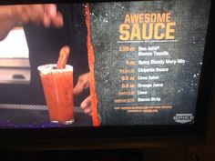 Bar rescue awesome sauce